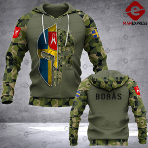 Spartan Borås - Sweden Camo army Pns 3D printed hoodie NQA