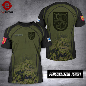 Personalized Finland Warriors OPM 3D printed Tshirt ARMS