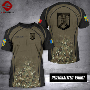 Personalized Romanian Warriors OPM 3D printed Tshirt ARMS