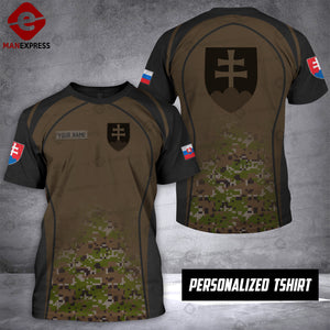 Personalized Slovak Warriors OPM 3D printed Tshirt ARMS