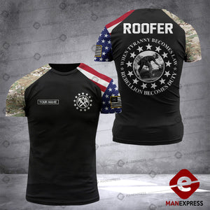 DH CUSTOMIZED ROOFER PATRIOT T SHIRT FULL PRINT 1607 LVT