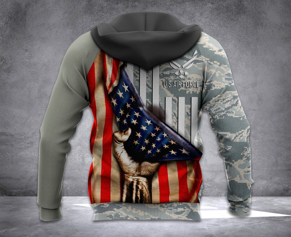TT Air force Flag 3D all over printed hoodie