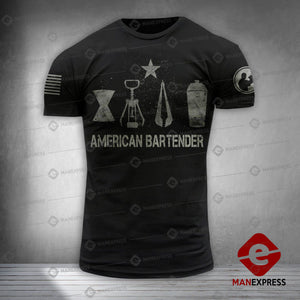 MH AMERICAN BARTENDER T-SHIRT PRINTED