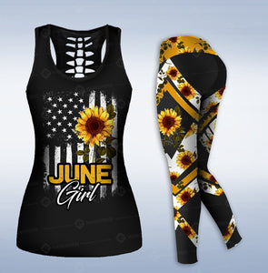 June Girl SunFlower COMBO TANK + LEGGING NQA