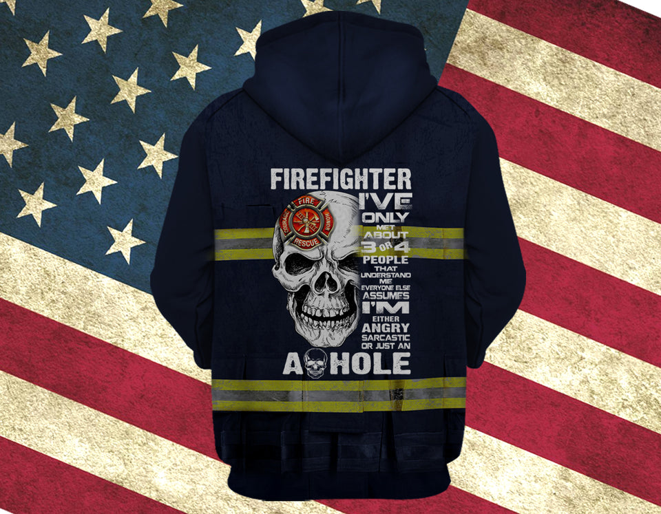 COOL FIREFIGHTER IRONWORKER HOODIE