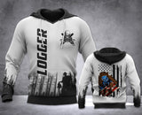Logger Flag 3D all over printed hoodie WHJ