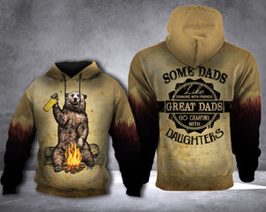 GREAT DADS CAMP WITH DAUGHTERS HOODIE