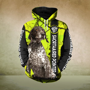 Shorthaired Pointer 3D printed hoodie CAZ