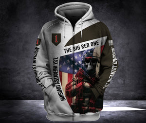 1ST INFANTRY 3D ALL OVER PRINT HOODIE