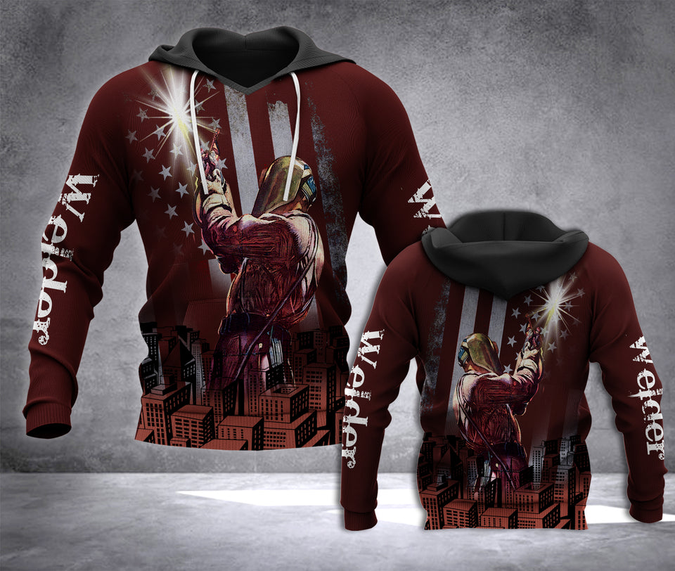 TT Welder 3D all over printed hoodie JMG