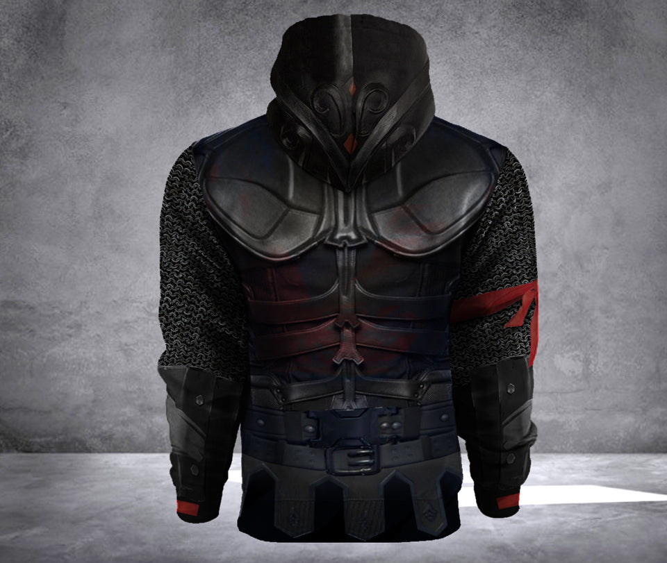 BLACK KNIGHT HOODIE 3D OVER PRINT