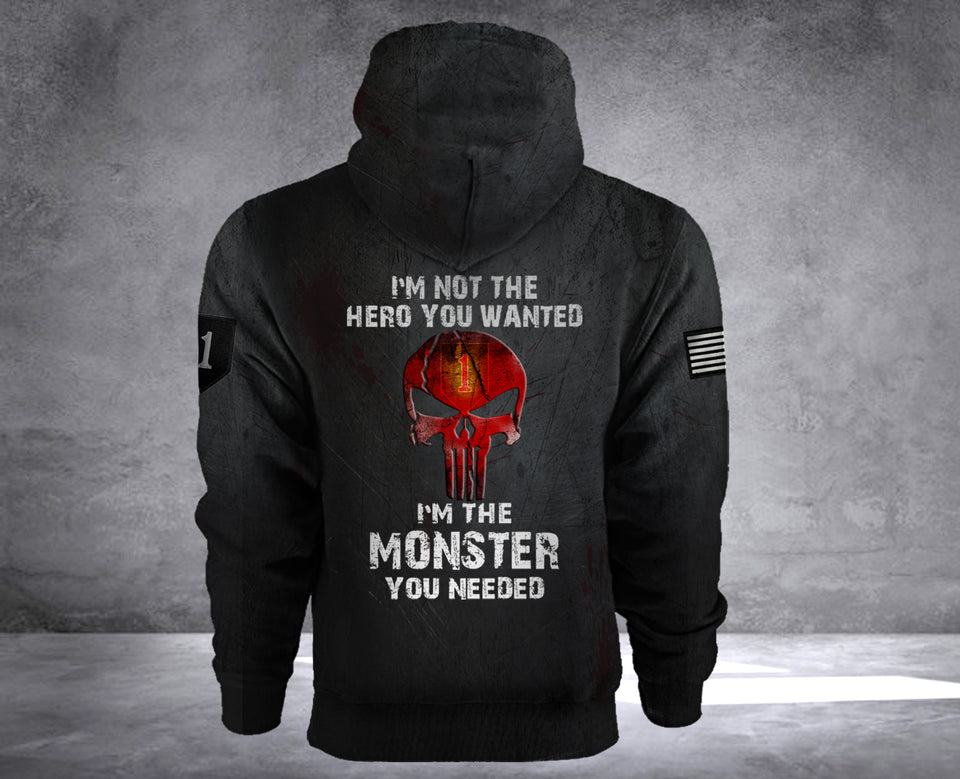 MONSTER 1ST INFANTRY DIVISION HOODIE LIMITED EDITION2