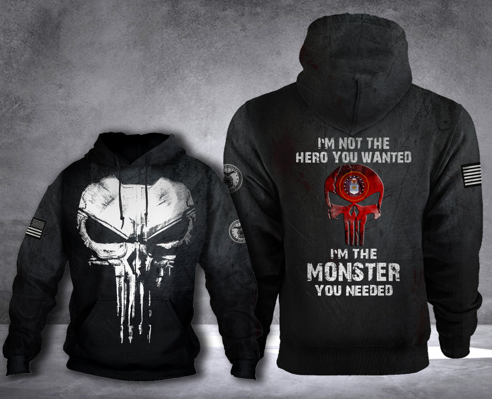 MONSTER US AIRFORCE HOODIE LIMITED EDITION2