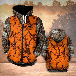 VH HUNTING DEER SAFETY HOODIE 3D ALL OVER PRINT