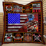 FIREFIGHTER QUILT BLANKET 3D PRINT