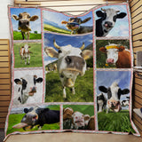 LOVELY COWS QUILT BLANKET