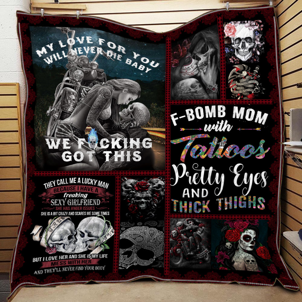 TATTOOS & SKULL QUILT BLANKET