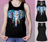 ANIMALS COLOR TANK TOP- Elephants