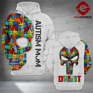 Autism Mom Different 3D printed hoodie