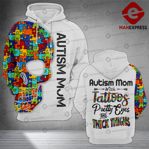 Autism Tattoo Different 3D printed hoodie