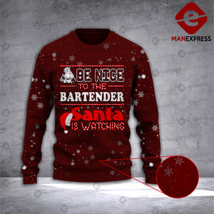 Bartender 3D printed Sweater QPW Christmas