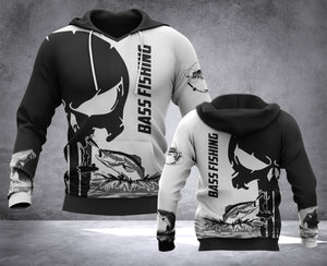 DH BASS FISHING PUN HOODIE ALL OVER PRINT