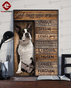 Boston Terrier 3D printed canvas MGA
