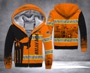 LMT PIPEFITTER PUNISHER SAFETY PRINT HOODIE