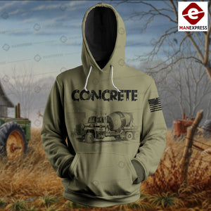 Concrete Finisher 3D printed hoodie ETY