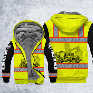 DH CONCRETE MIXER SAFETY HOODIE ALL OVER PRINT
