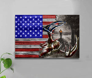 HALF FLAG - DEER - CANVAS