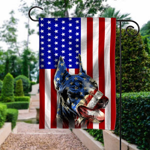 Flag GARDEN doberman 4July