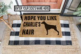CUSTOMIZE DOG'S NAME DOORMAT DOB