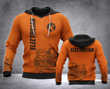 Electrician 3D all over printed hoodie WHJ