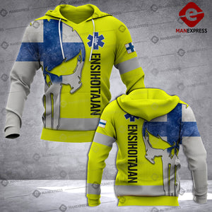 Finnish Paramedic 3D printed hoodie UCV Finland EMS