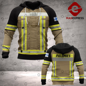 Finnish Firefighter 3D printed hoodie TKV