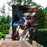 Flag GARDEN NEW pitbull 4july