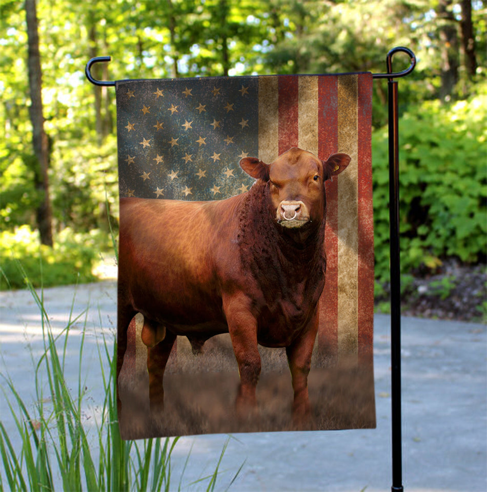 RED ANGUS GARDEN FLAG