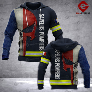 French Firefighter 3D printed hoodie UCV France