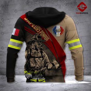 French Firefighter 3D printed hoodie TCU France