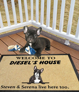Frenchie Welcome Doormat LHT