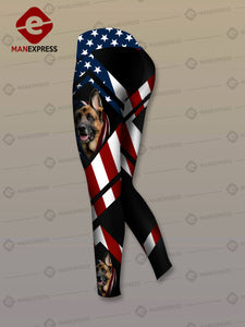 MH FLAG GERMAN SHEPHERD COMBO TANK + LEGGING