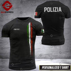 Personalized Italian Police 3D printed Tshirt DKZ