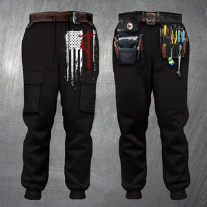 3D All Over Printed Joggers -LINEMAN