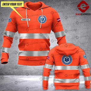 Personalized Latvian EMS 3D printed hoodie HTS Paramedic