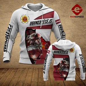 Latvian Firefighter 3D printed hoodie FSW Latvia