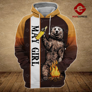 Camping May Girl 3D printed hoodie NBT