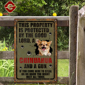 Chihuahua Dog Printed Metal Sign 105-TA