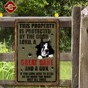Great Dane Dog Printed Metal Sign 105-TA