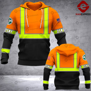 New York City Department of Sanitation Garbage Collector DSNY 3D printed hoodie ABH